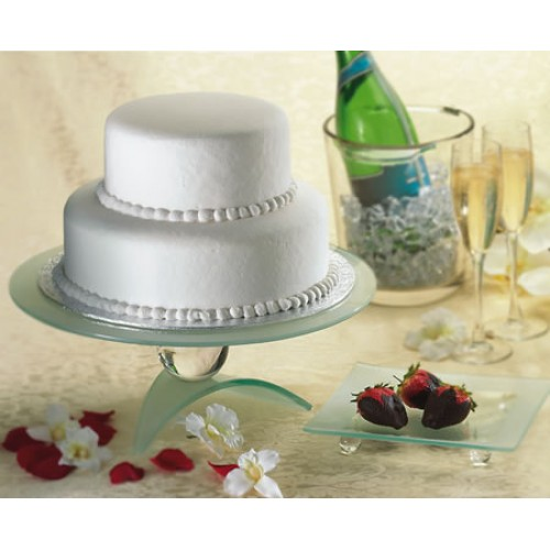 "Wedding Cake 2 Tier 12"" W X 6"" H"