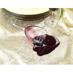 Spilled Glass - Red Wine