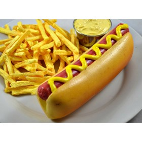 Hot Dog In Bun w/Mustard