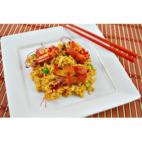 Shrimp Fried Rice on Plate